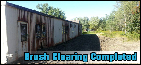 Clean up completed behind the building.